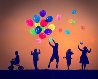 Balloon Children Child Childhood Cheerful Leisure Concept Royalty Free Stock Photo