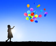 Balloon Children Child Childhood Cheerful Leisure Concept Royalty Free Stock Photography
