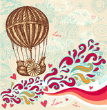 Balloon with clouds Stock Images