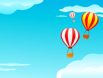 Balloon and clouds in blue sky Stock Image