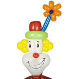 Balloon clown head stock image