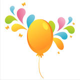 Balloon with colorful splash Royalty Free Stock Images