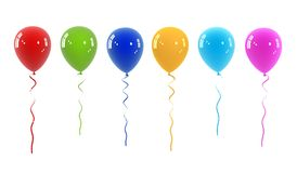 Balloon concept illustration Stock Photos