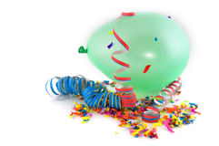 Balloon and confetti Stock Photography