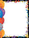 Balloon and Confetti Border Royalty Free Stock Image