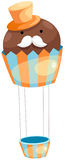 Balloon cupcake Stock Photography