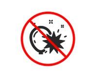 Balloon dart icon. Amusement park sign. Vector. No or Stop. Balloon dart icon. Amusement park sign. Pop the balloon symbol. Prohibited ban stop symbol. No stock illustration