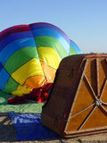 Balloon Deflating. Hot air balloon being deflated on the ground Stock Images