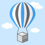 Balloon that deliver the goods. Delivery Services and E-Commerce Royalty Free Stock Photo