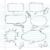 Balloon Dialogue Doodle Royalty Free Stock Images