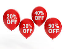 Balloon and discounts Royalty Free Stock Photo