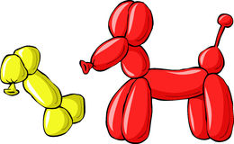 Balloon dog. With a bone, vector Royalty Free Stock Photo