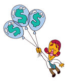 Balloon dollar Royalty Free Stock Photo