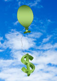 Balloon and dollar sign Stock Photos