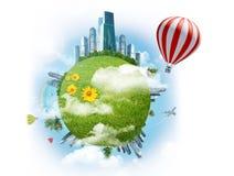 Balloon with earth Stock Photos