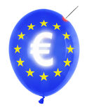 Balloon with euro symbol Stock Image