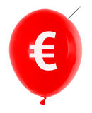 Balloon with euro symbol Royalty Free Stock Images