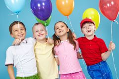 Balloon for everyone Stock Images