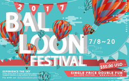 Balloon festival ads Stock Images