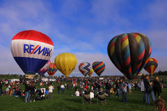 Balloon festival. Annual balloon festival in Erie Colorado Royalty Free Stock Images