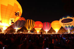 Balloon festival in Chiangmai Royalty Free Stock Image