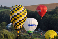 Balloon Festival day,Kunovice, Czech republic Stock Images