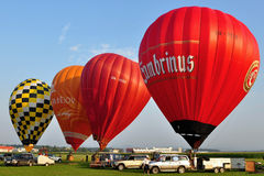 Balloon Festival day,Kunovice, Czech republic Stock Photos