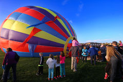 Balloon festival. In Erie Colorado with people looking on Royalty Free Stock Photography