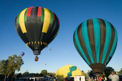 Balloon festival at Mancos near Mesa Verde National Park royalty free stock photography