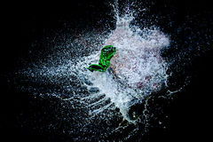 Balloon filled with water explosion. Balloon filled with water exploding Stock Image