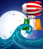 A balloon with the flag of Ireland Royalty Free Stock Images