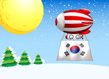 A balloon with the flag of South Korea Stock Photography