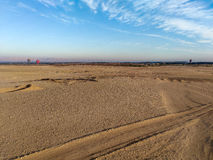 Balloon flight, beautiful view to desert where we are preparing royalty free stock images