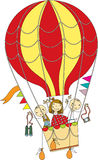 Balloon flight Stock Photo