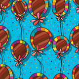 Balloon flower deco seamless pattern Stock Photo