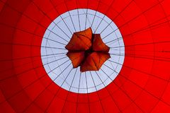 Balloon. Flying in a hot air balloon. Royalty Free Stock Image
