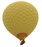 Balloon flying. Hot air balloon isolated white background Stock Photo