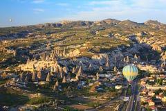 Balloon flying over Cappadocia, Turkey Royalty Free Stock Image