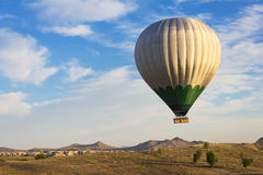 Balloon flying over Cappadocia, Turkey Stock Photo