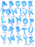 Balloon font. Upper case and ribbon Stock Image