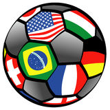 Balloon of foot. With flags Stock Photos