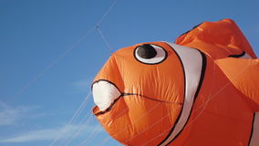 Balloon in form of fish stock video footage