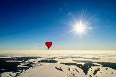Balloon in the form of heart Royalty Free Stock Image
