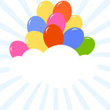 Balloon and frame Royalty Free Stock Images