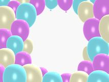 Balloon frame. 3D balloon frame for text or photos Royalty Free Stock Photo