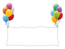 Balloon frame Stock Images