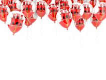 Balloon frame with flag of gibraltar Royalty Free Stock Image