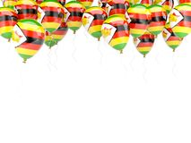 Balloon frame with flag of zimbabwe Stock Photography
