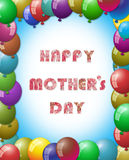 Balloon frame, happy mothers day concept Stock Images