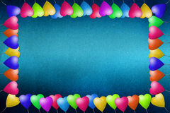 Balloon frame recycled paper craft. On paper background royalty free illustration